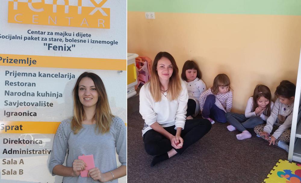 Volonterka Evropskog volonterskog servisa u Centru ''Fenix''